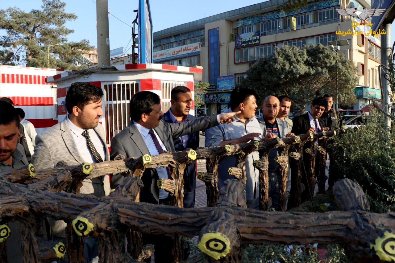گزارش تصویرشA snapshot report of Mazar-e-Sharif Municipality leadership's efforts to green the cityی از تلاشهای رهبری شاروالی مزارشریف برای سرسبزی شهر